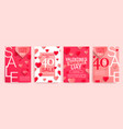 set valentines day sale banners vector image vector image