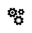 settings with additional gears icon vector image