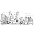 sketchy drawing of city high rise landscape vector image vector image