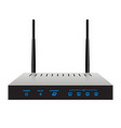slim realistic wireless router vector image vector image
