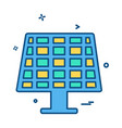 solar panel icon design vector image vector image