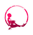 sporty woman silhouette vector image vector image