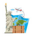 statue liberty in new york design vector image