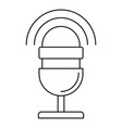 studio microphone icon outline style vector image