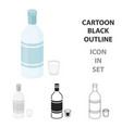 vodka icon in cartoon style isolated on white vector image vector image
