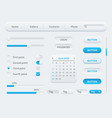 white interface elements universal ui template vector image vector image