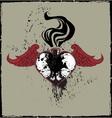 Winged Skulls Heart vector image vector image