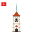 zytglogge is a landmark medieval tower in bern vector image