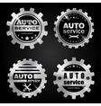 Auto service badges vector image