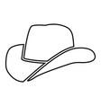 cowboy hat black color icon vector image