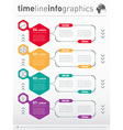 Web Template for vertical diagram or presentation vector image