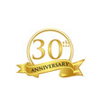30th anniversary celebration logo vector image vector image
