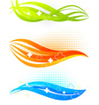 3D Curved Lines Set vector image