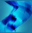 abstract blue technology background with twisted vector image vector image