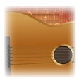 acoustic guitar close-up lighting vector image vector image