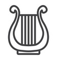 Ancient greek lyre line icon music