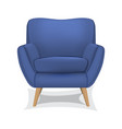 armchair on white background vector image vector image