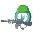 army kyber network character cartoon vector image vector image