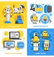 Artificial Intelligence 2x2 Design Concept vector image vector image