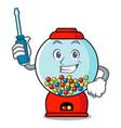 automotive gumball machine mascot cartoon vector image vector image