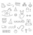 baby toys digital stamps vector image vector image