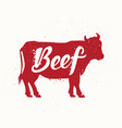 black angus beef vector image vector image