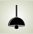 black hanging ceiling lamp vector image vector image