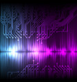 blue-purple wave abstract equalizer and circuit vector image vector image