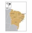 brazil northeast region vector image vector image