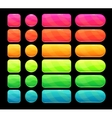 Bright spectrum buttons set vector image vector image