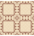 brown seamless pattern with squares - background vector image