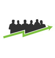 business success green vector image
