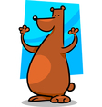 cartoon doodle of bear vector image vector image
