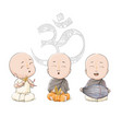 cartoon vaisnava devotees vector image vector image