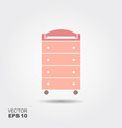 changing table flat icon vector image vector image