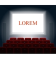 Cinema with white screen Theater and show vector image vector image