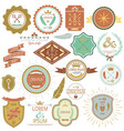 collection vintage labels and stamps vector image