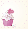 Cupcakes design vector image