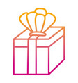 degraded line present gift box with crown vector image vector image