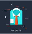 dresscode flat concept vector image