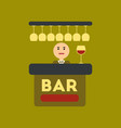flat icon on stylish background icon bar bartender vector image vector image