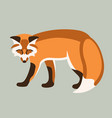 fox flat style profile vector image vector image