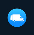 free delivery icon pictogram with car vector image