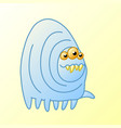 funny cartoon monster millipede goes vector image vector image