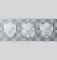 glass shield set transparent glass shields and vector image vector image
