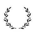 greek laurel or olive winner award wreath or leaf vector image vector image