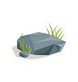 grey stones with green grass landscape design vector image vector image
