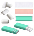 gum chewing bubble mockup set realistic style vector image