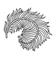 hand drawn feather vector image vector image