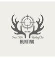 Hunting Vintage Emblem vector image vector image